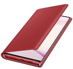 Etui folio Samsung LED View Cover Galaxy Note 10 Rouge