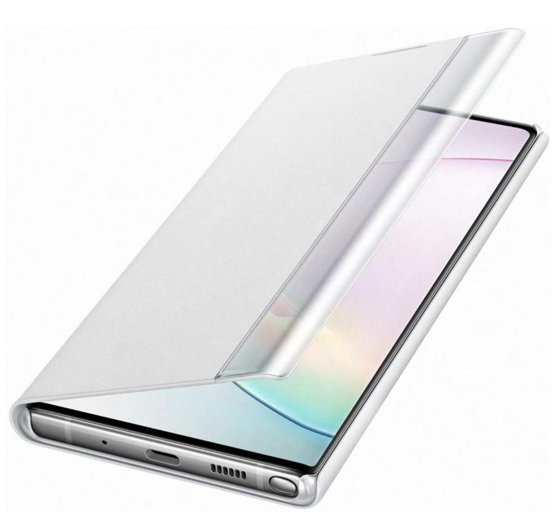 Etui folio Samsung Clear View Cover Galaxy Note 10 - Blanc