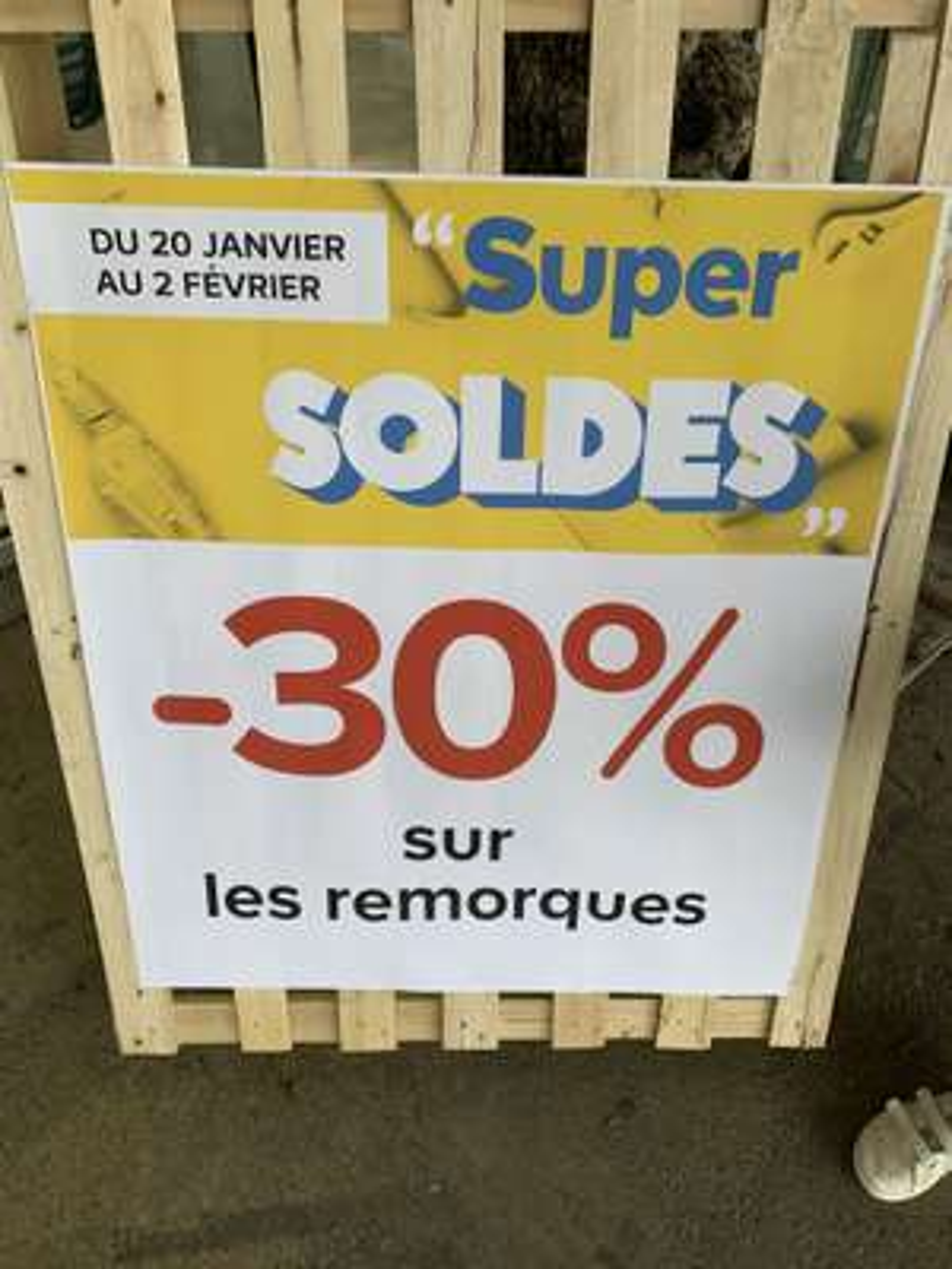 30% de remise sur les remorques (Saint-Orens-de-Gameville31)