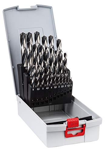 Lot de 25 forets hélicoÏdaux HSS pour métal Bosch Professional