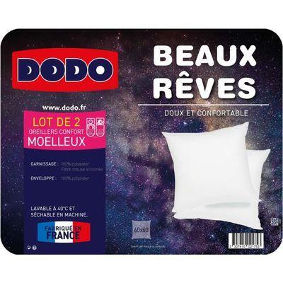 Lot de 2 oreillers Dodo Beaux Rêve - 60 x 60 cm