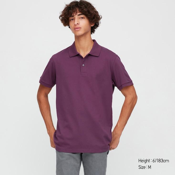 Sélection de produits en promotion - Ex: Polo Dry piqué Uniqlo pour Homme (Violet) - Taille XS