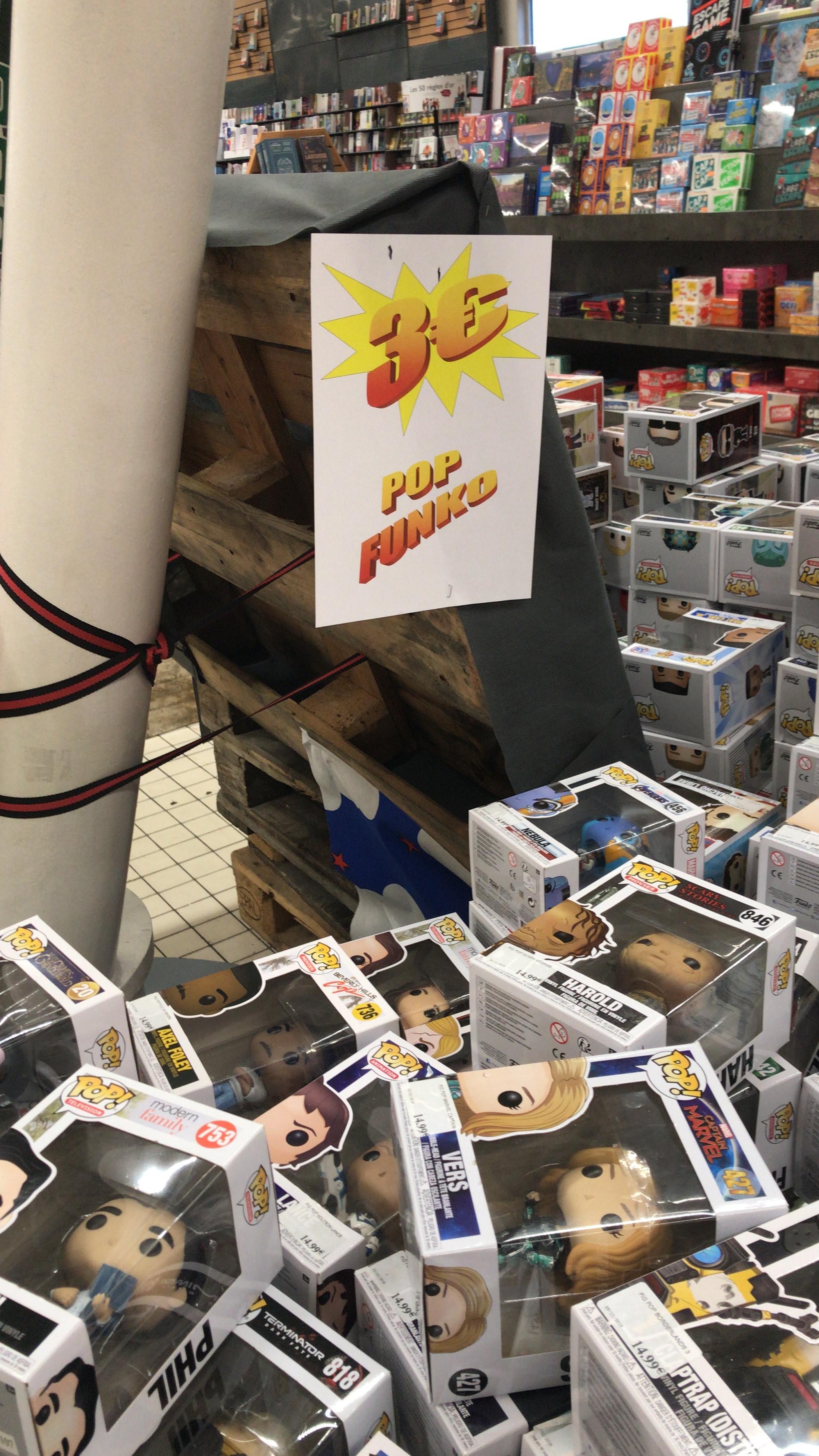 Sélection de Figurines Funko Pop à 3€ (Forbach 57)
