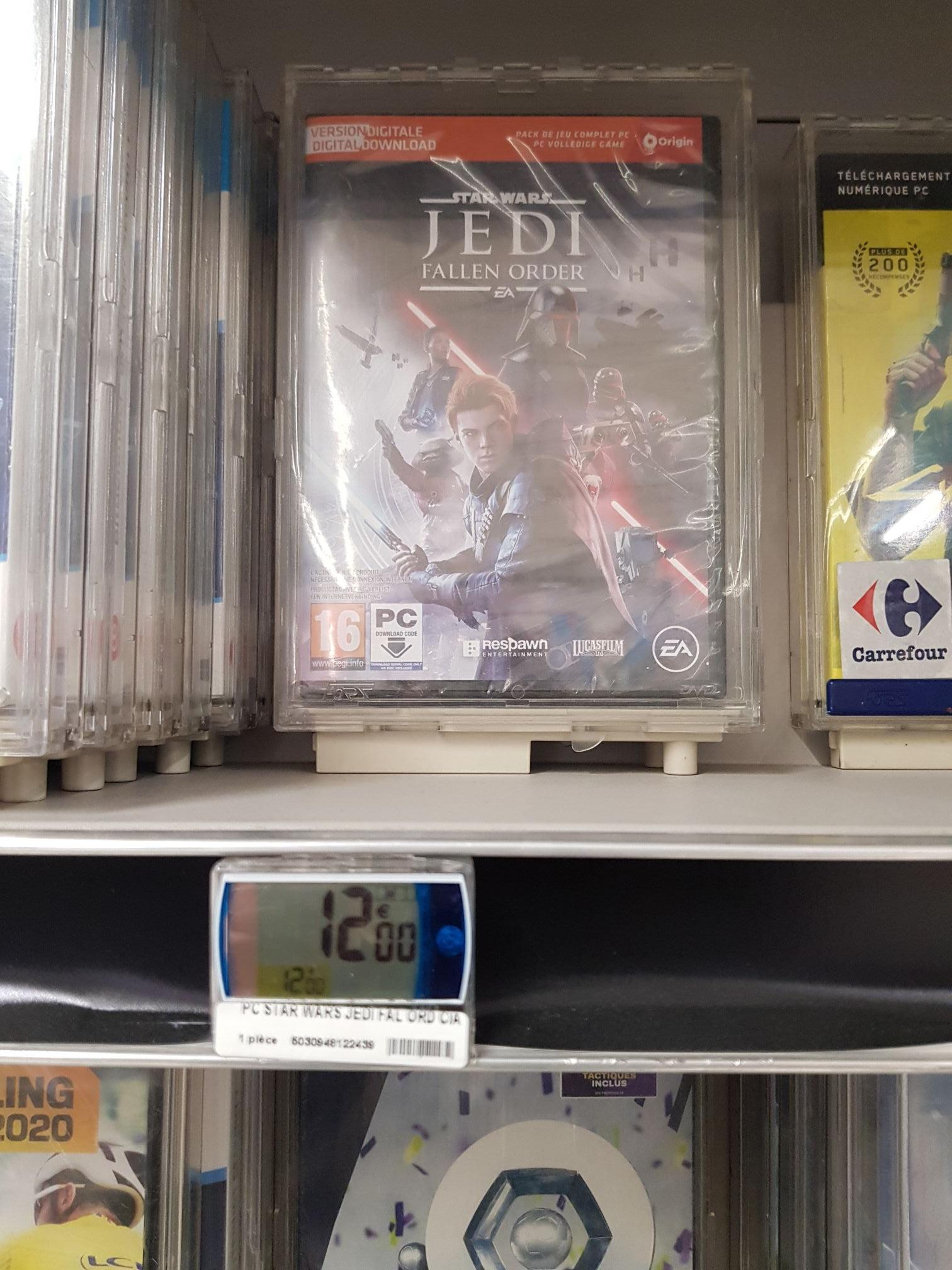Sélection de jeux PC en promotion - Ex: Star Wars Jedi Fallen Order - St Jean de Vedas (34) / Wasquehal (59) / Quimper (29)