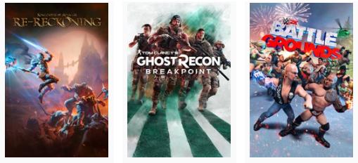 [Gold] Ghost Recon Breakpoint / WWE 2K Battlegrounds / Kingdoms of Amalur: Re-Reckoning jouables gratuitement sur Xbox (Dématérialisés)