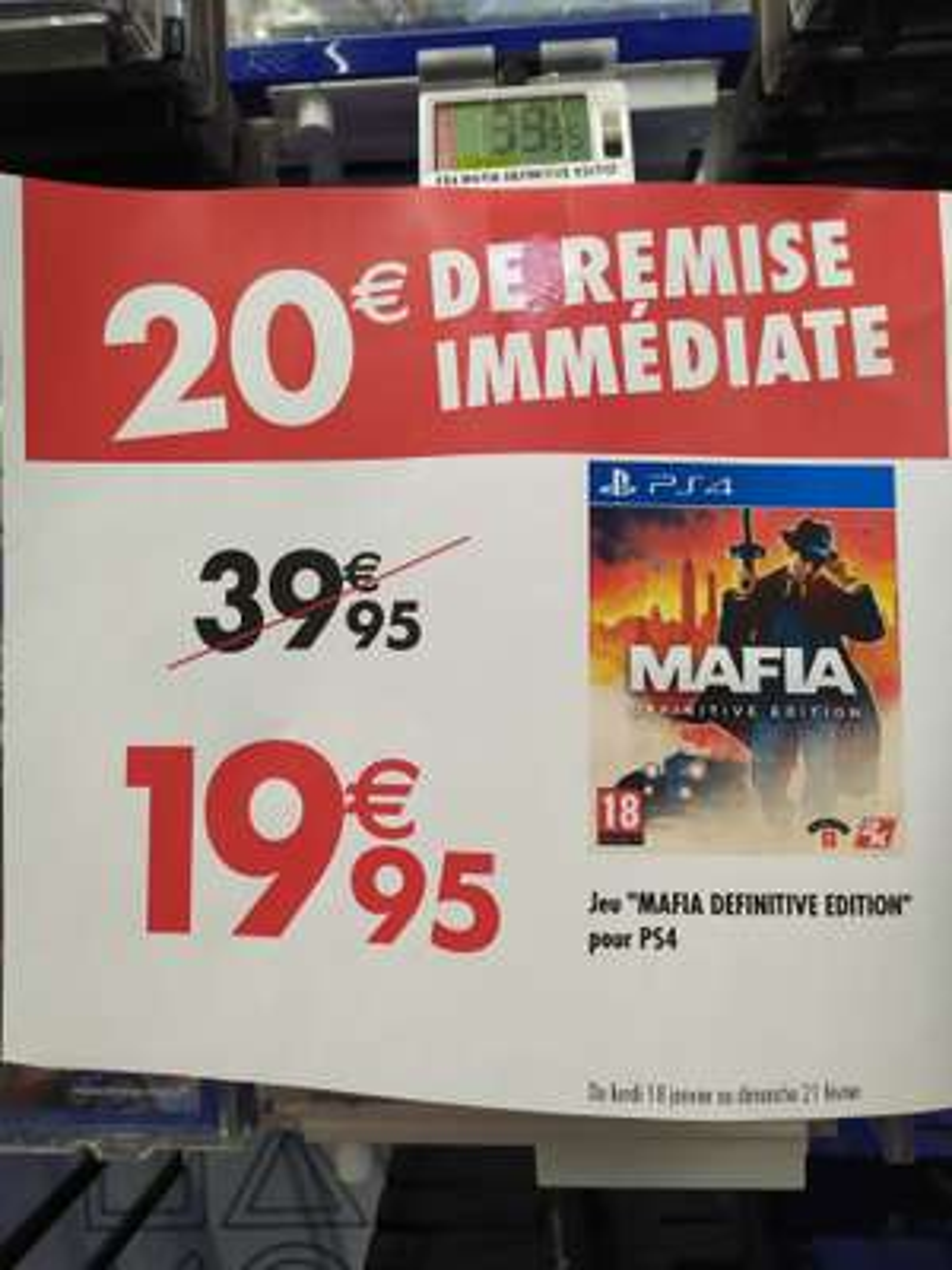 Sélection de jeux PS4 en promotion - Ex: Mafia Définitive Edition - Pontault-Combault (77)