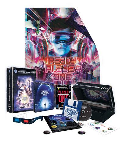 Coffret Blu-ray 4K UHD Ready Player One - Ultimate Édition, avec badges + Blu-ray bonus + poster + roman + steelbook (via retrait magasin)