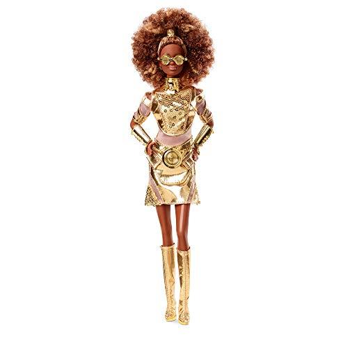 Sélection de poupées Barbie Star Wars en promotion - Ex : poupée Gold Barbie GLY30