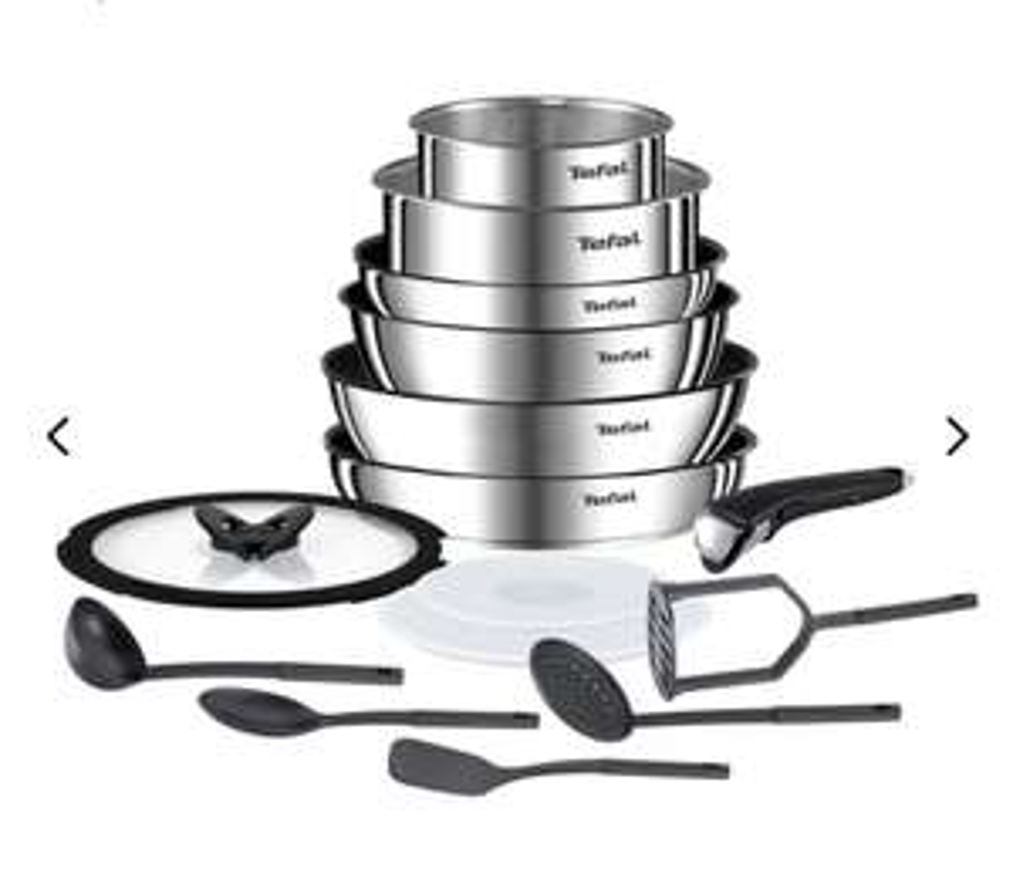 Batterie de cuisine Tefal Ingenio Emotion - 15 pièces (tous feux dont induction)