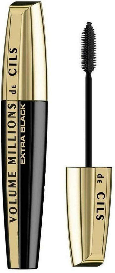 Mascara Volume L'Oréal Paris Millions de Cils - Couleur : Extra Black - 9,2 ml