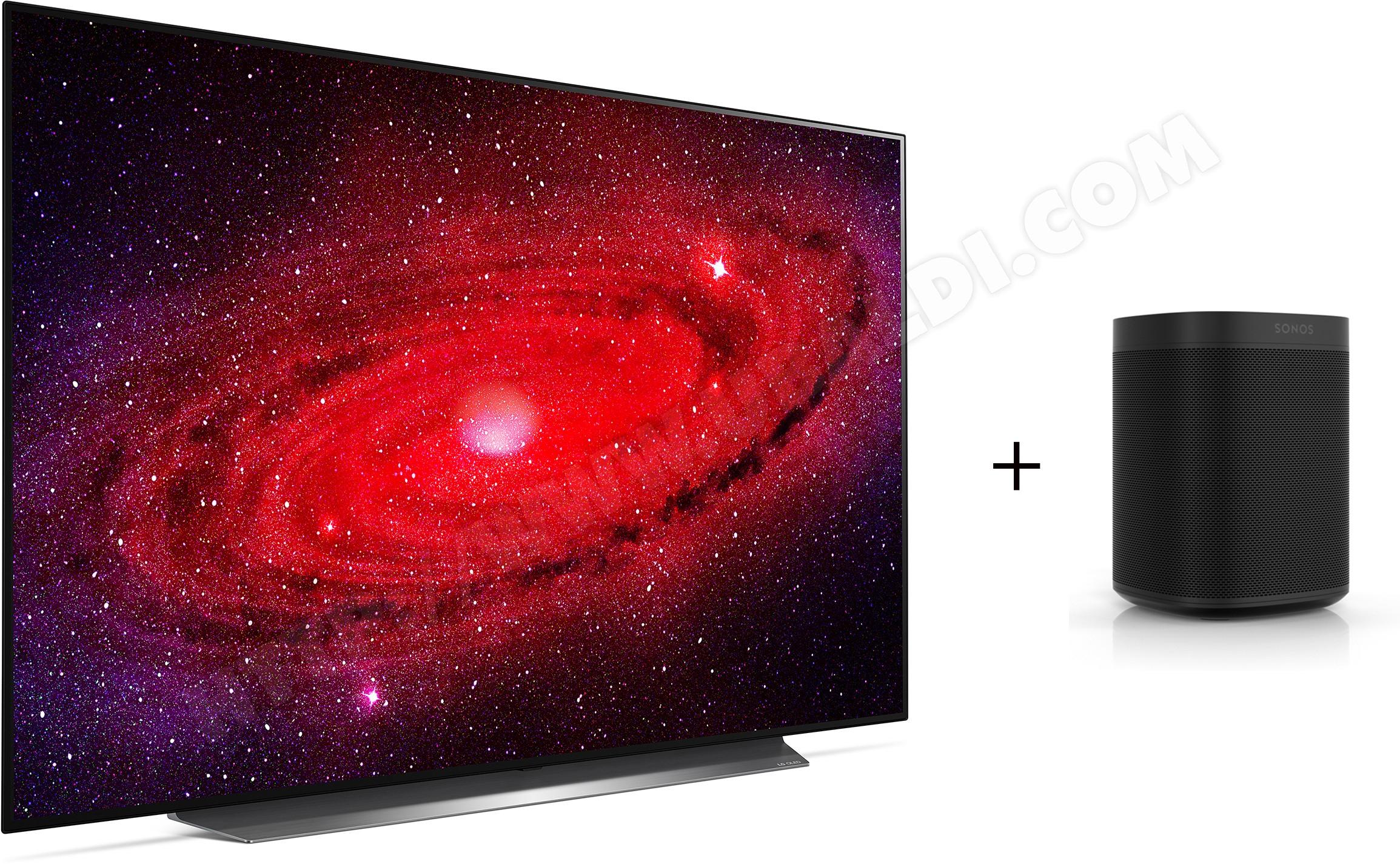 "TV 65"" LG OLED65CX6LA - OLED, 4K UHD + enceinte sans fil Sonos One (noir)"