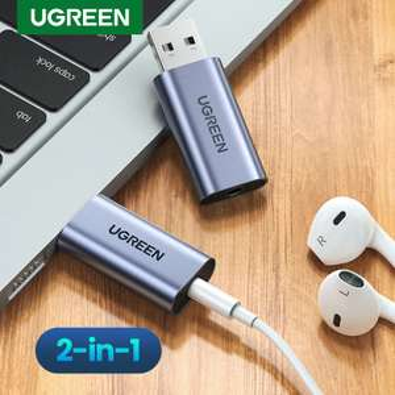 Carte son USB Ugreen - Jack 3.5mm
