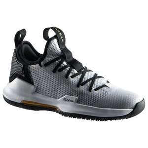 Chaussures de Basketball Tarmak Fast 500 Grise Tige Basse