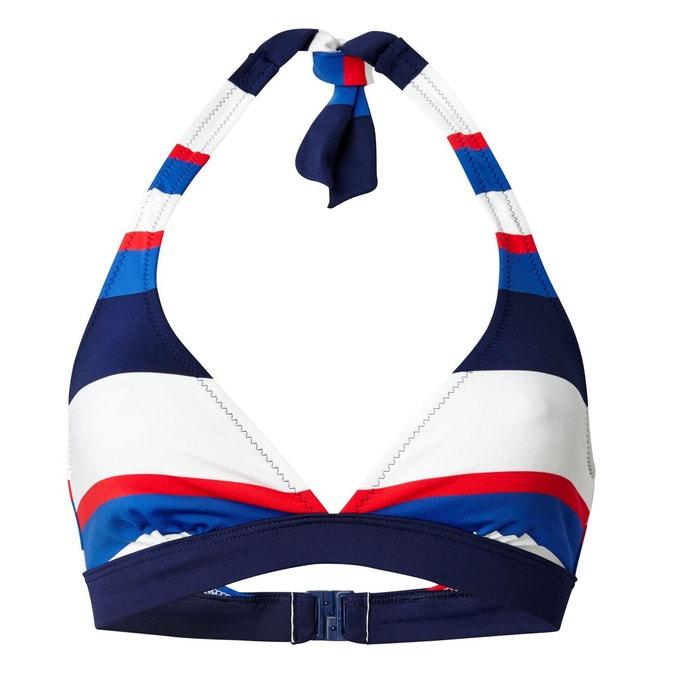 Haut de maillot de bain foulard rayé La Redoute Collections - Taille 36