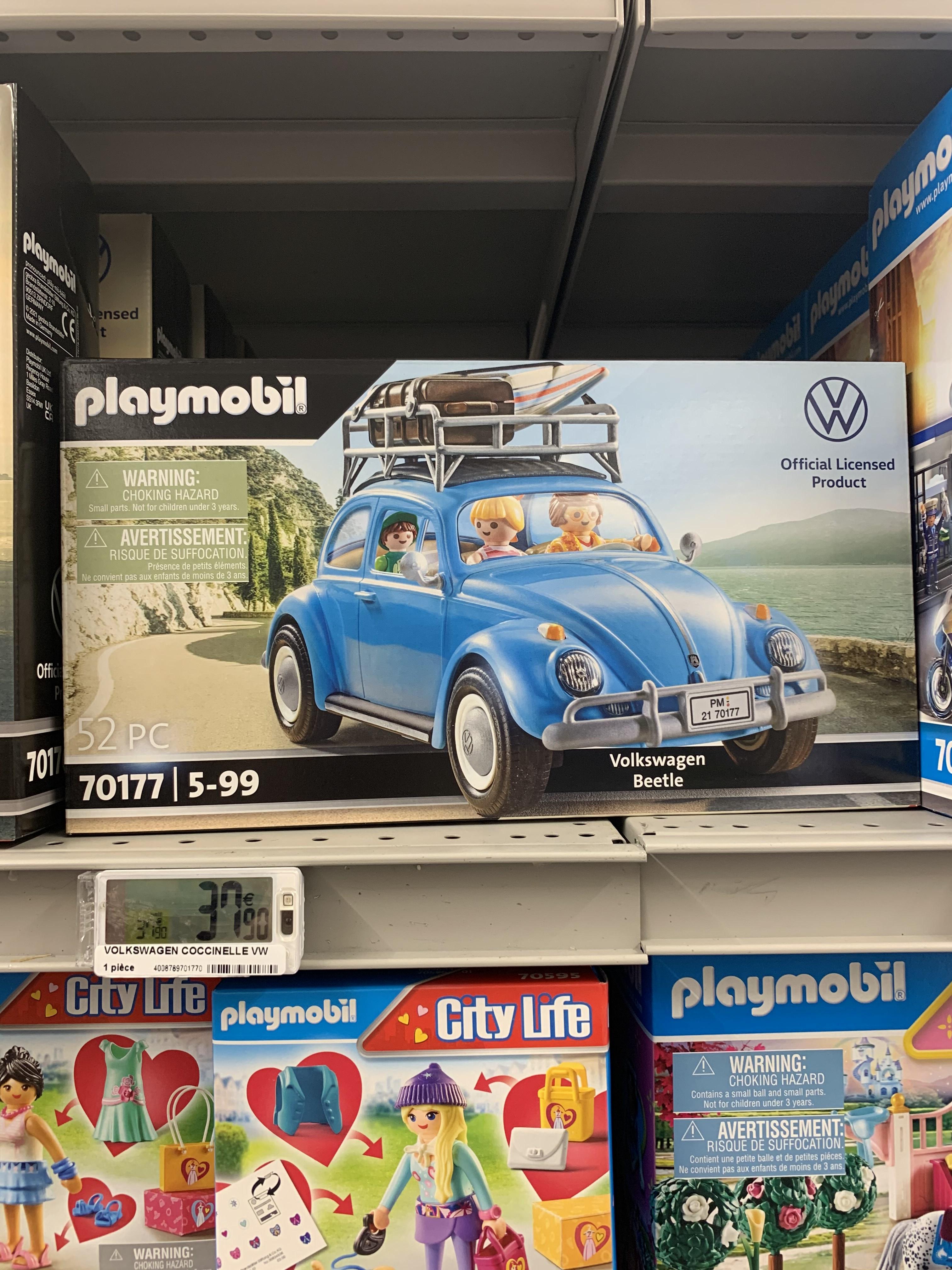 Jouet Playmobil : Volkswagen coccinelle n°70177 - Carrefour de Créteil soleil / Belle Epine (94)