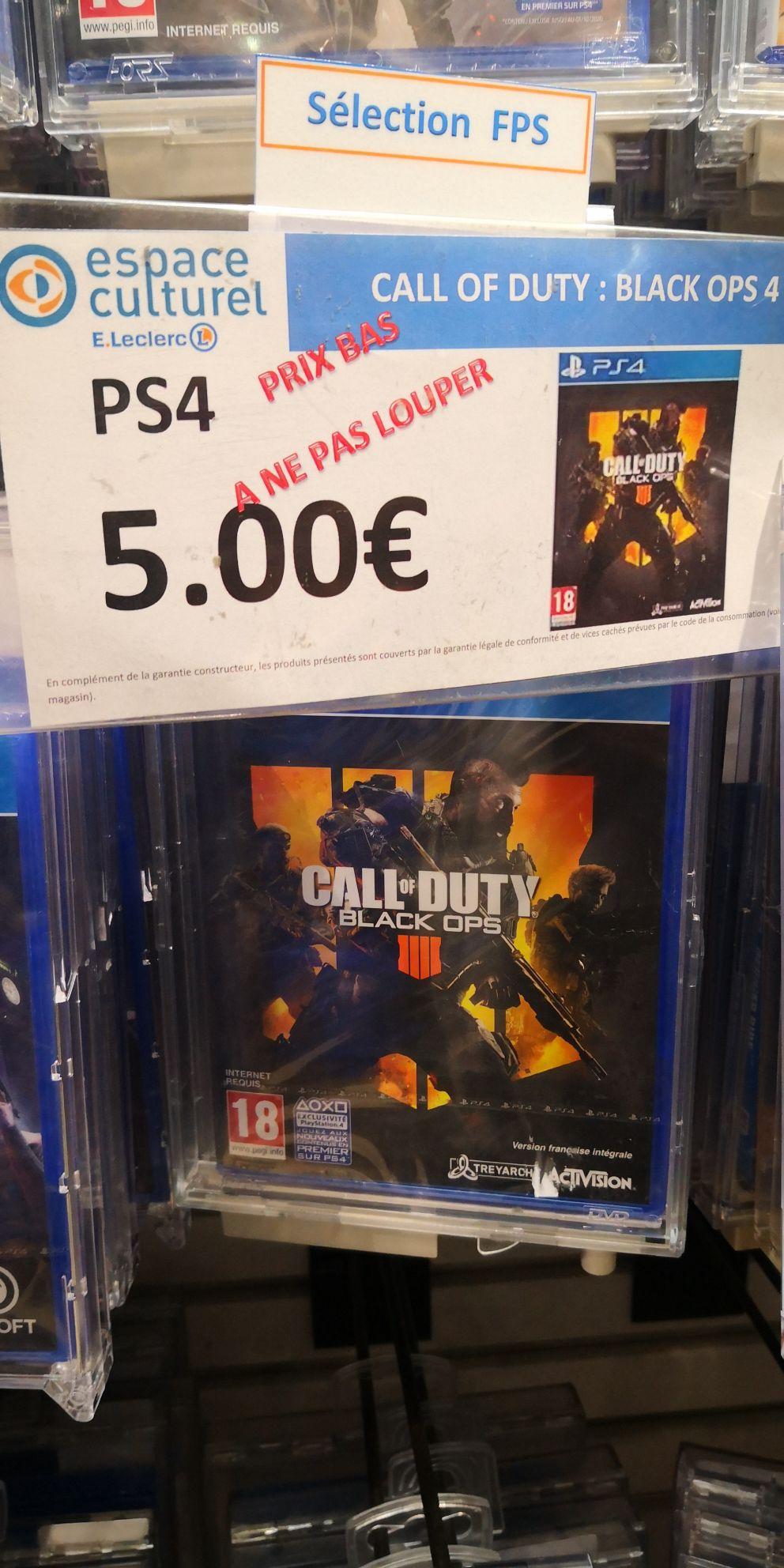 Call of Duty: Black Ops 4 sur PS4 (Geispolsheim 67)