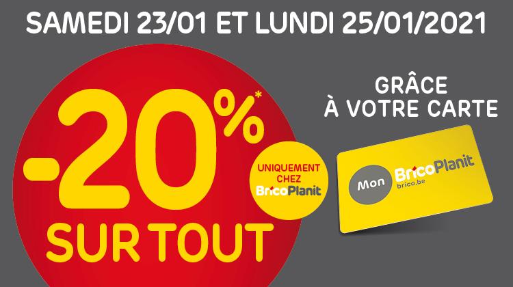 [Carte BricoPlanit & Mon Brico] 20% de réduction sur tout - BricoPlanit (Frontaliers Belgique)