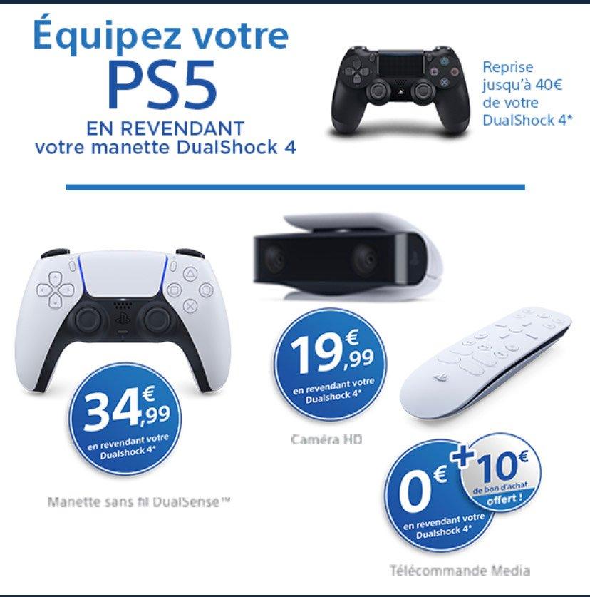 Sélection d'offres reprise - Ex : Manette PS5 DualSense à 34.99€ via reprise d'une Manette PS4 Dualshock 4