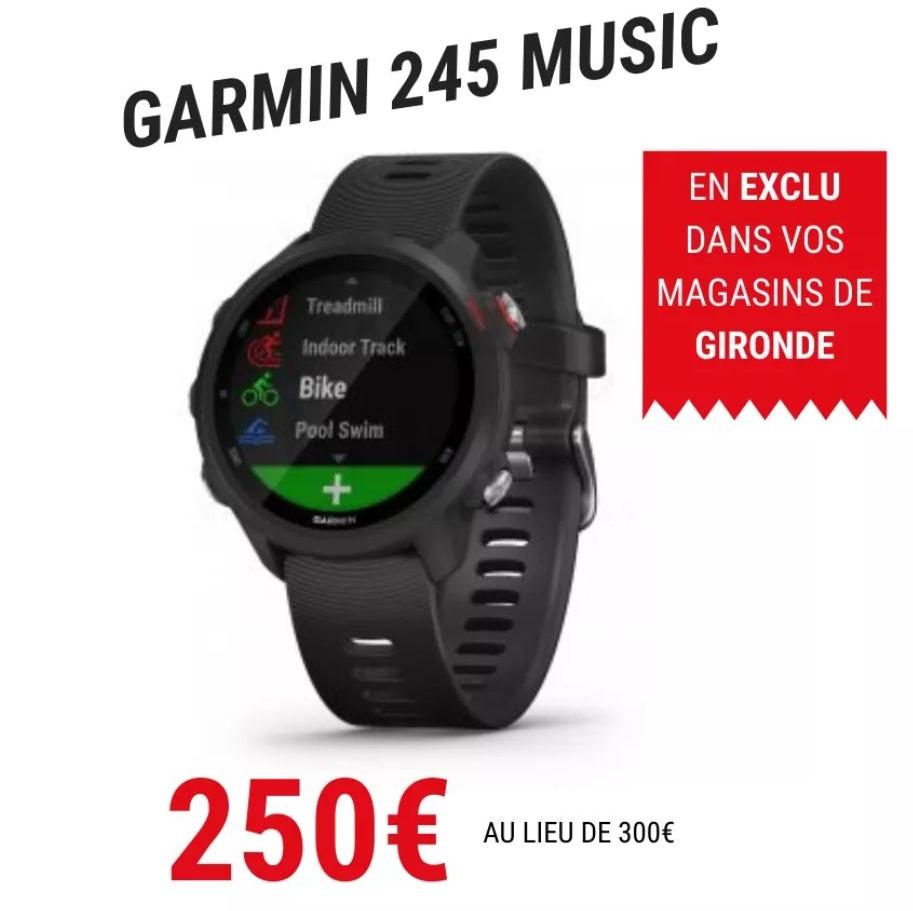 Montre connectée GPS Garmin Forerunner 245 Music (Gironde 33)