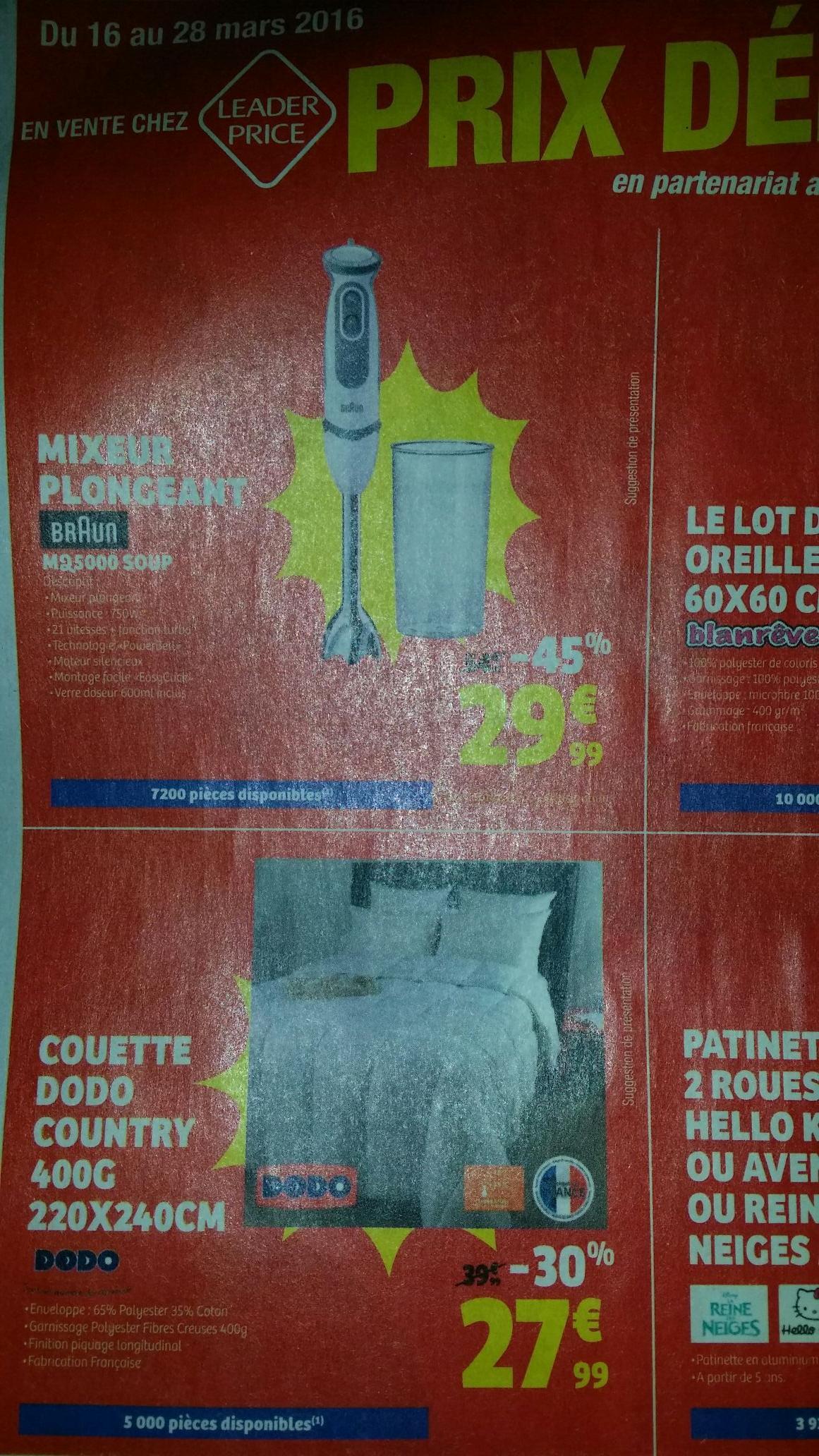 Couette chaude 400Gr/m² 220x240cm Dodo Country