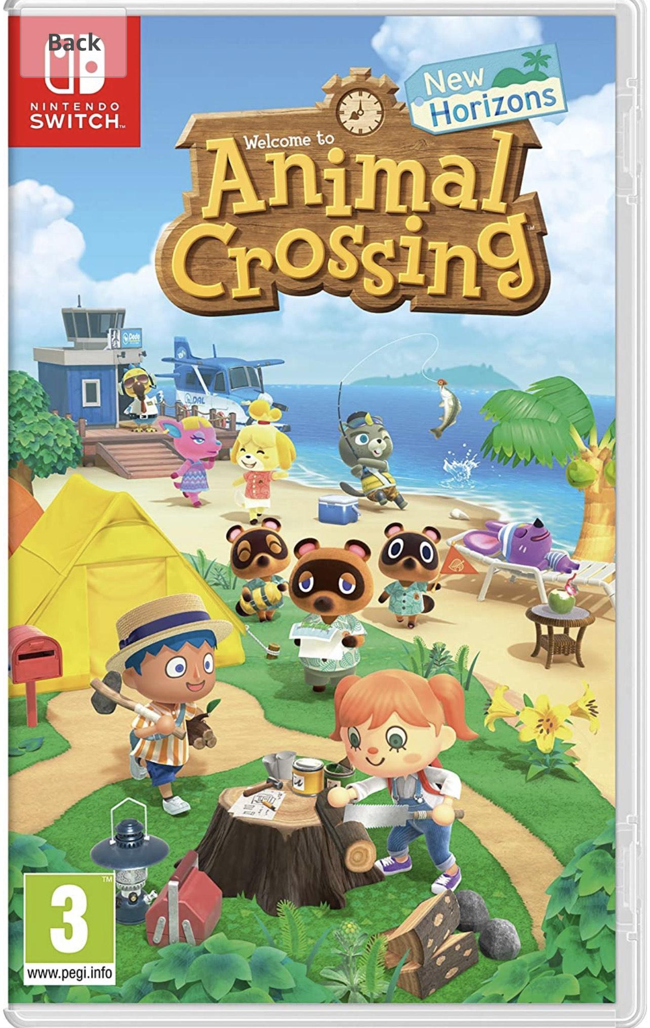 Sélection de jeux vidéos en promotion - Ex: Animal Crossing sur Nintendo Switch