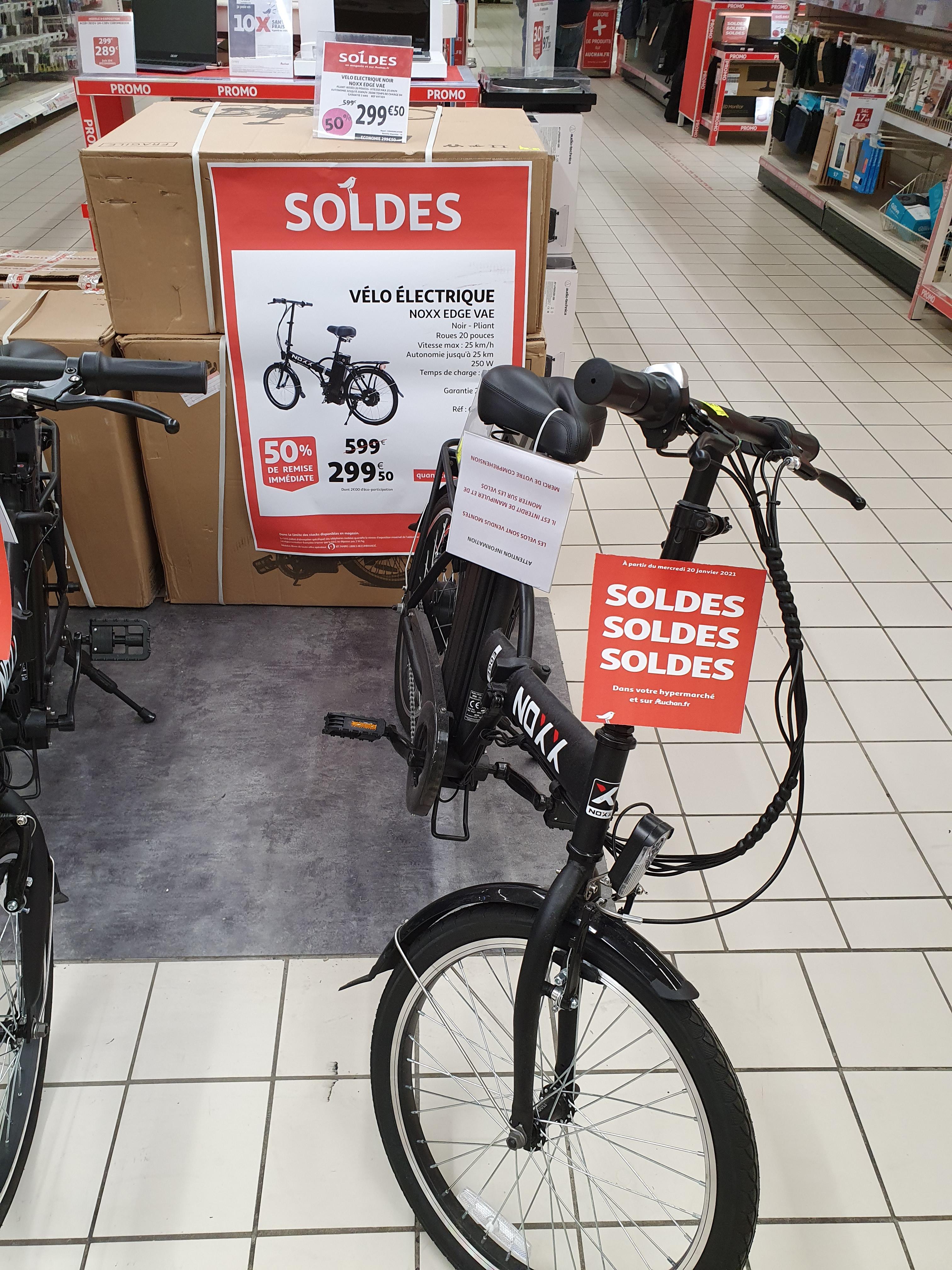 Vélo électrique Noxx Edge VAE Noir (Villars 42)
