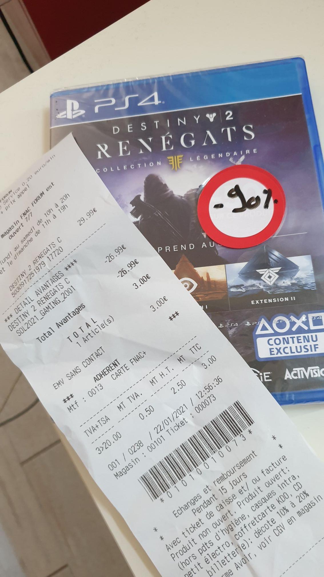 Destiny 2: Renégats - Collection Légendaire sur PS4 - Paris 1er / 17ème (75)