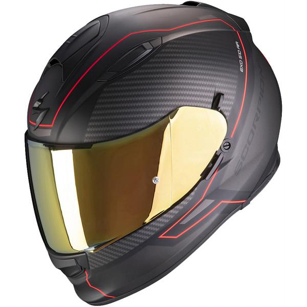 Casque de moto Scorpion Exo-510 Air Frame - noir/rouge (taille S)