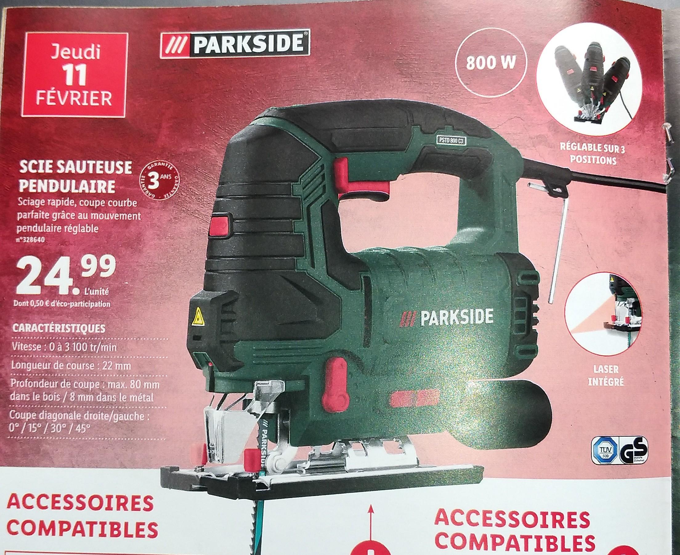 Scie sauteuse pendulaire ParkSide PSTD 800 C3 - 800 W