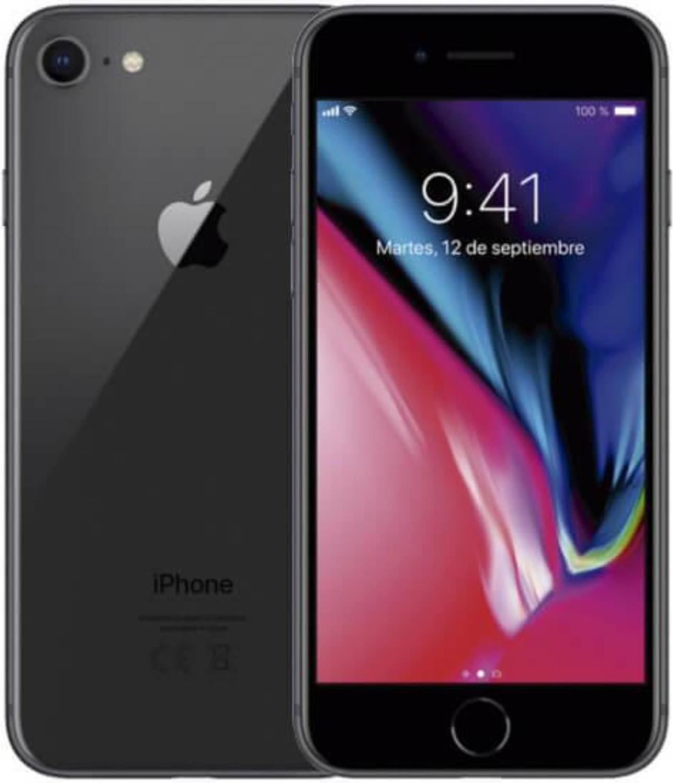 """Smartphone 4.7"""" Apple iPhone 8 (HD+ Retina, A11, 2 Go de RAM, 64 Go, gris) - reconditionné (via 174.5€ en fidélité, via retrait magasin)"""