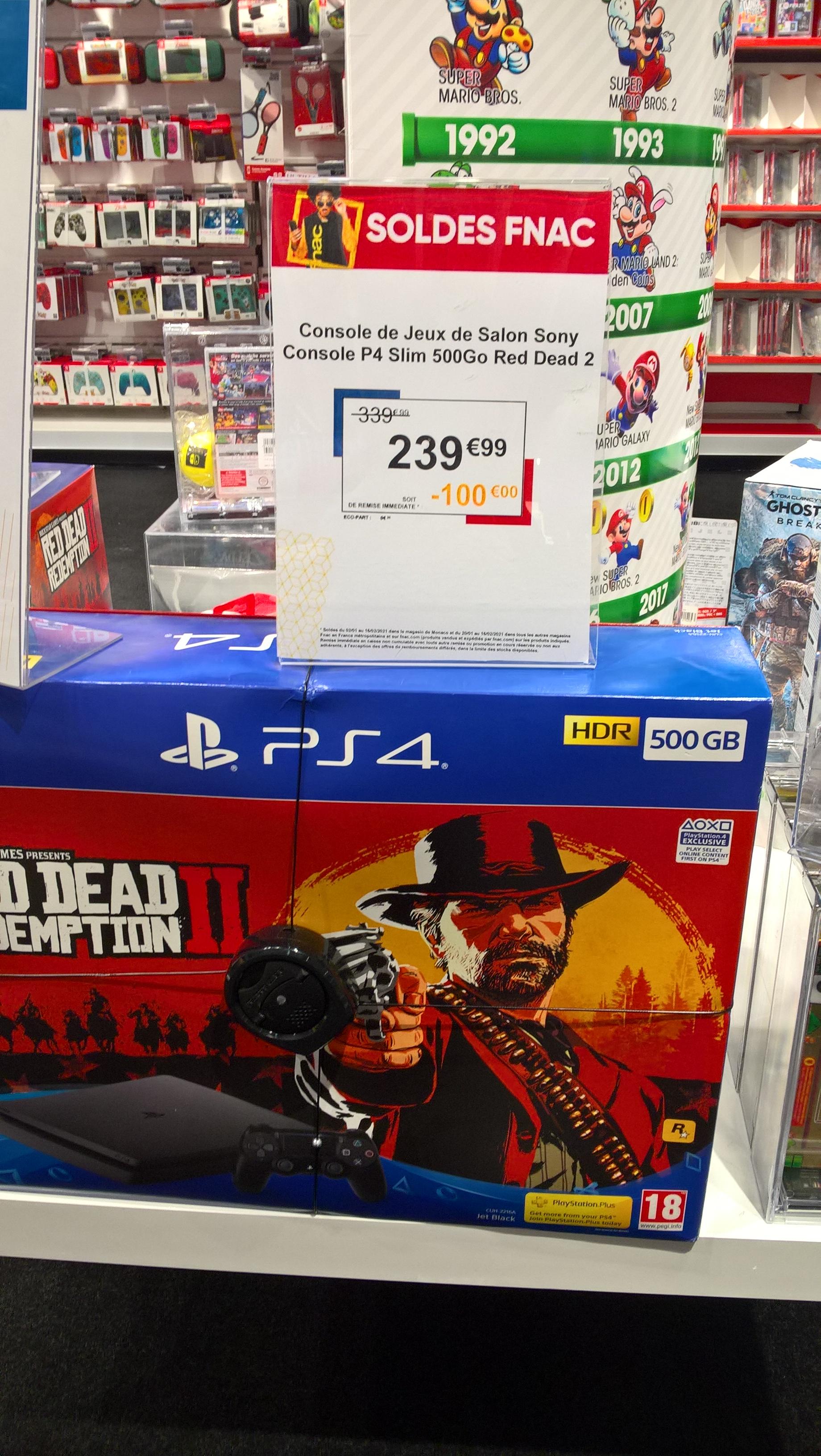 Pack Console PS4 Slim (500Go) + Red Dead Redemption 2 - La Rochelle (17)