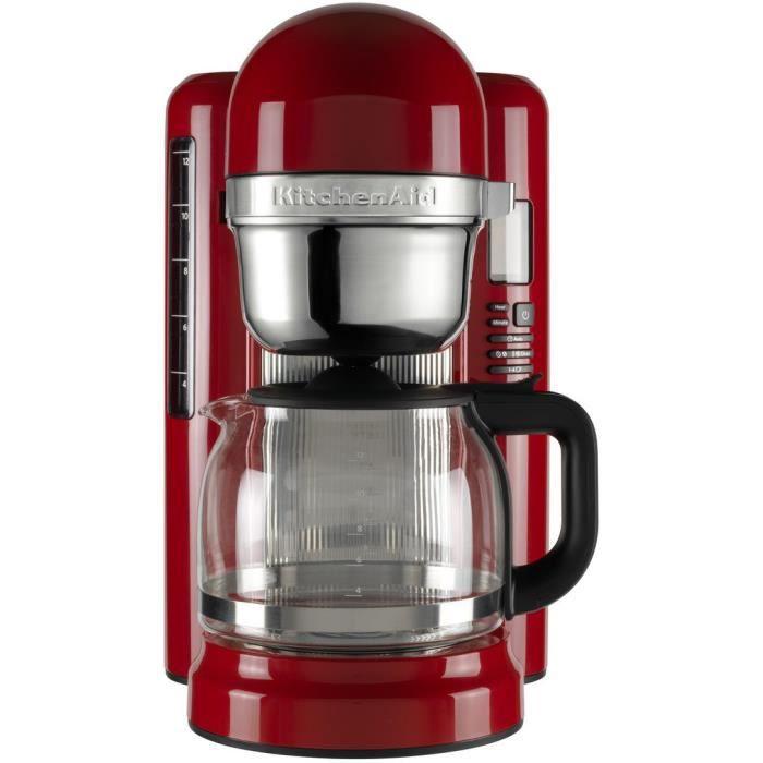 Cafetière filtre KitchenAid - 1.7L, Rouge Empire