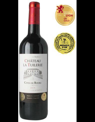 Lot de 6 bouteilles de vin Château la Tuilerie 2015 AOC Côtes de Bourg - 75cl (lacavechevalquancard.com)