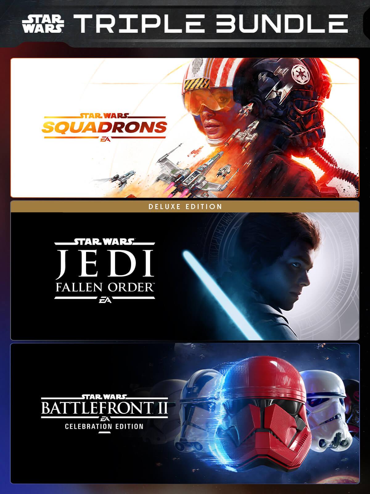 EA Star Wars Triple Bundle - Squadrons + Jedi: Fallen Order Deluxe Edition + Battlefront II: Celebration Edition sur PC (Dématérialisé)