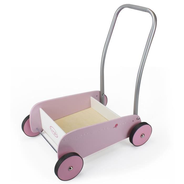 Chariot de marche bois et métal Corolle