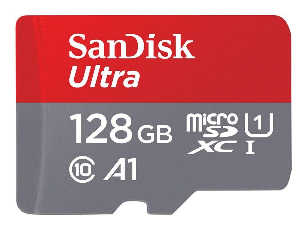 Carte mémoire MicroSDXC SanDisk Ultra (UHS-I Classe 10) - 128 Go + Adaptateur SD