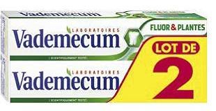 Lot de 2 dentifrice Vademecum (BDR de 0,70€)