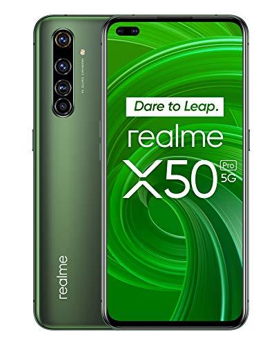 """Smartphone 6.44"""" Realme X50 Pro 5G - 8 Go de Ram, 128 Go, Vert écume"""