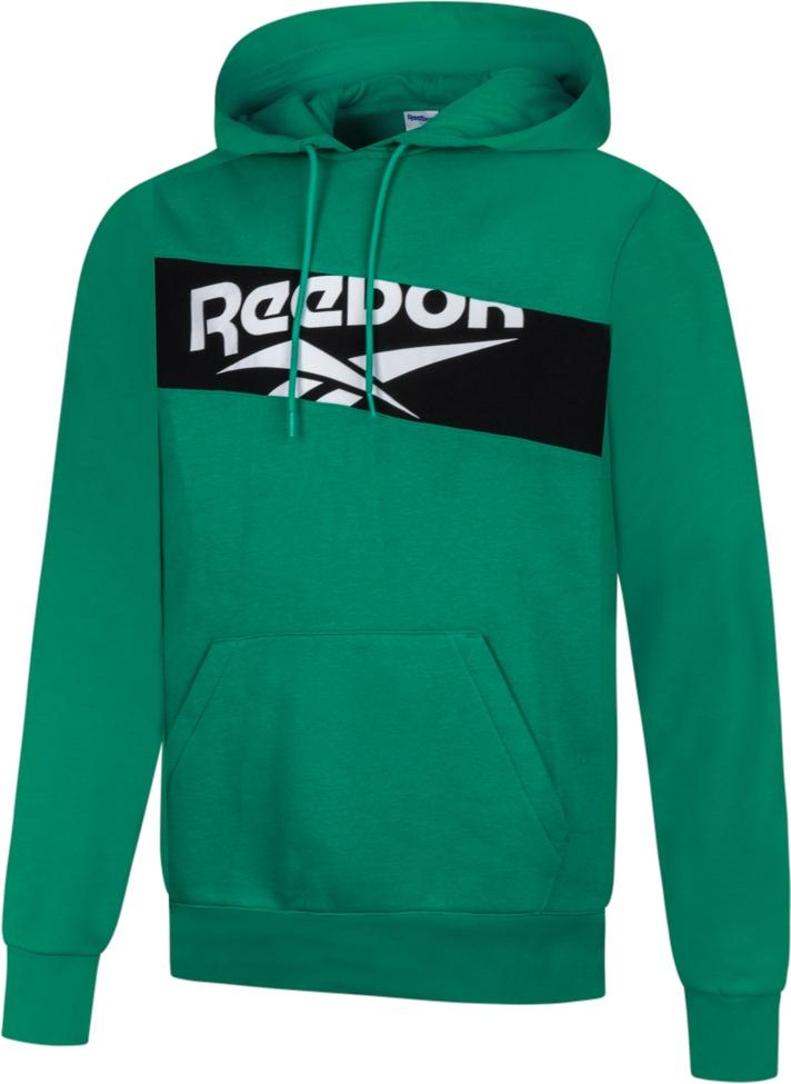 Sweat-shirt à capuche Reebok Classics Vector - en coton biologique (80%), vert, du XS au XXL