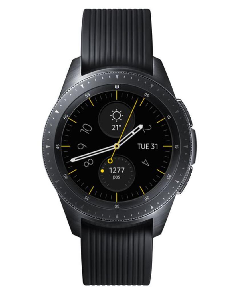 Montre connectée Samsung Galaxy Watch 42 mm - Noir (Dans une sélection de magasins)