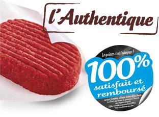"""8 steaks hachés surgelés Charal """"l' authentique"""" 100% remboursés en bons d'achat"""