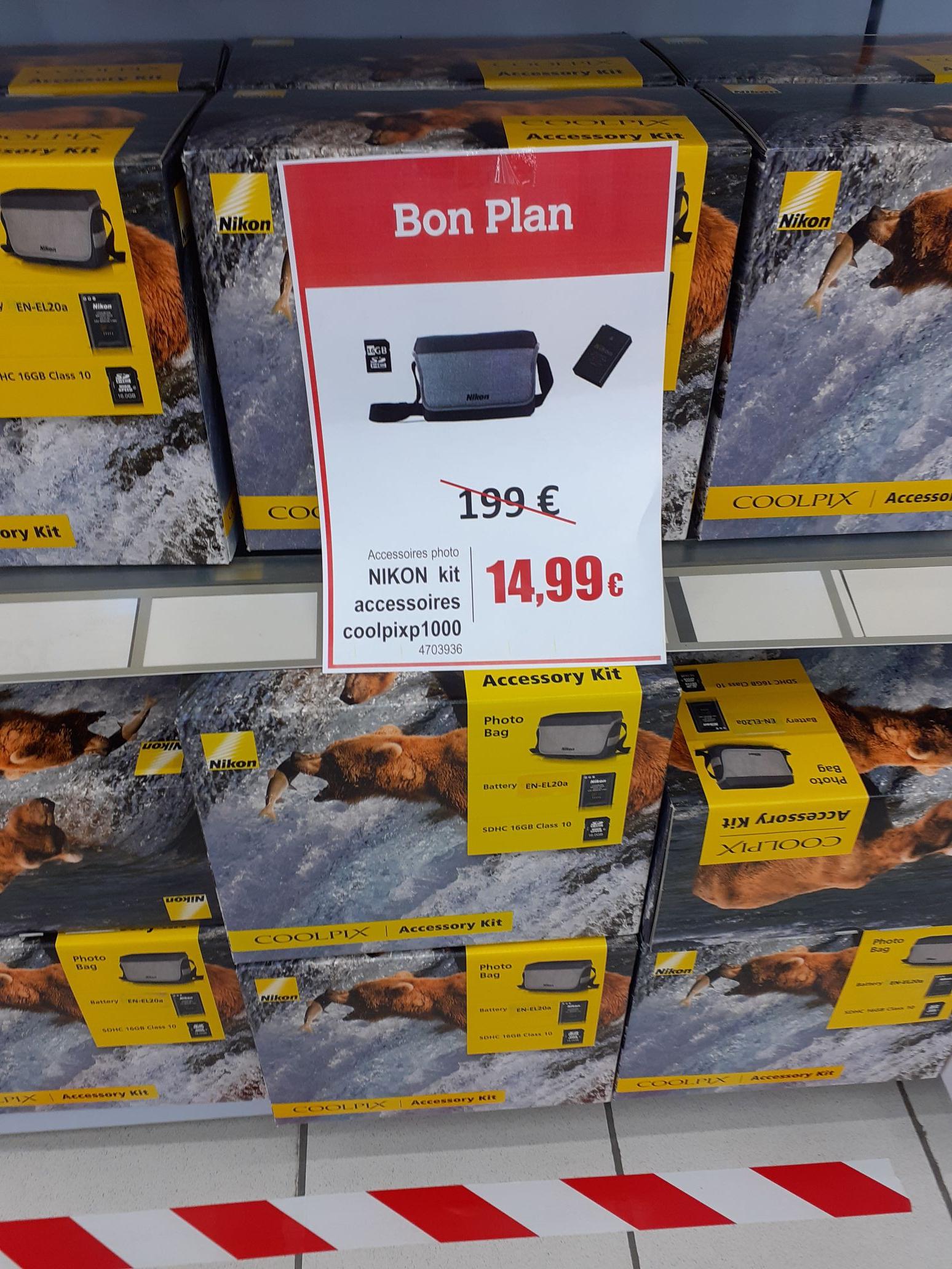 Sacoche + Batterie + Carte mémoire SD pour Nikon CoolPix P1000 (La Ferté-Bernard 72)