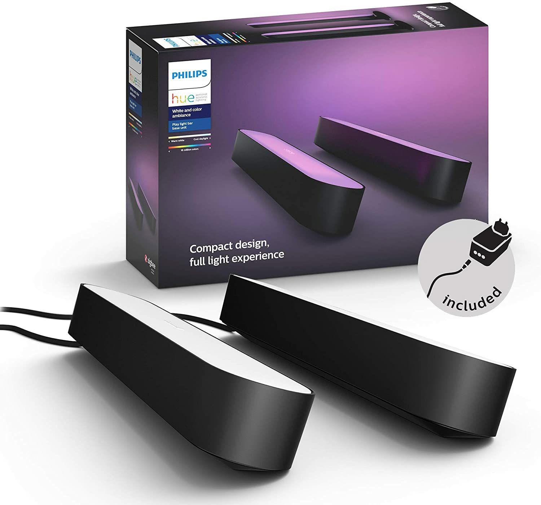 Pack de 2 lumières d'ambiance connectées Philips Hue Play Lightbar