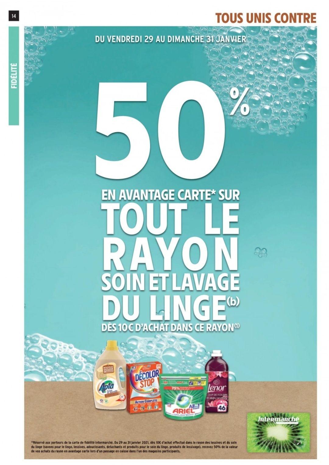 [Carte Fidélité] 50% offerts sur le Rayon Soin et Lavage du linge dès 10€ d'achat