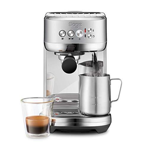 Machine à Expresso avec mousseur à lait automatique Sage SES500 the Bambino Plus - Acier inoxydable brossé