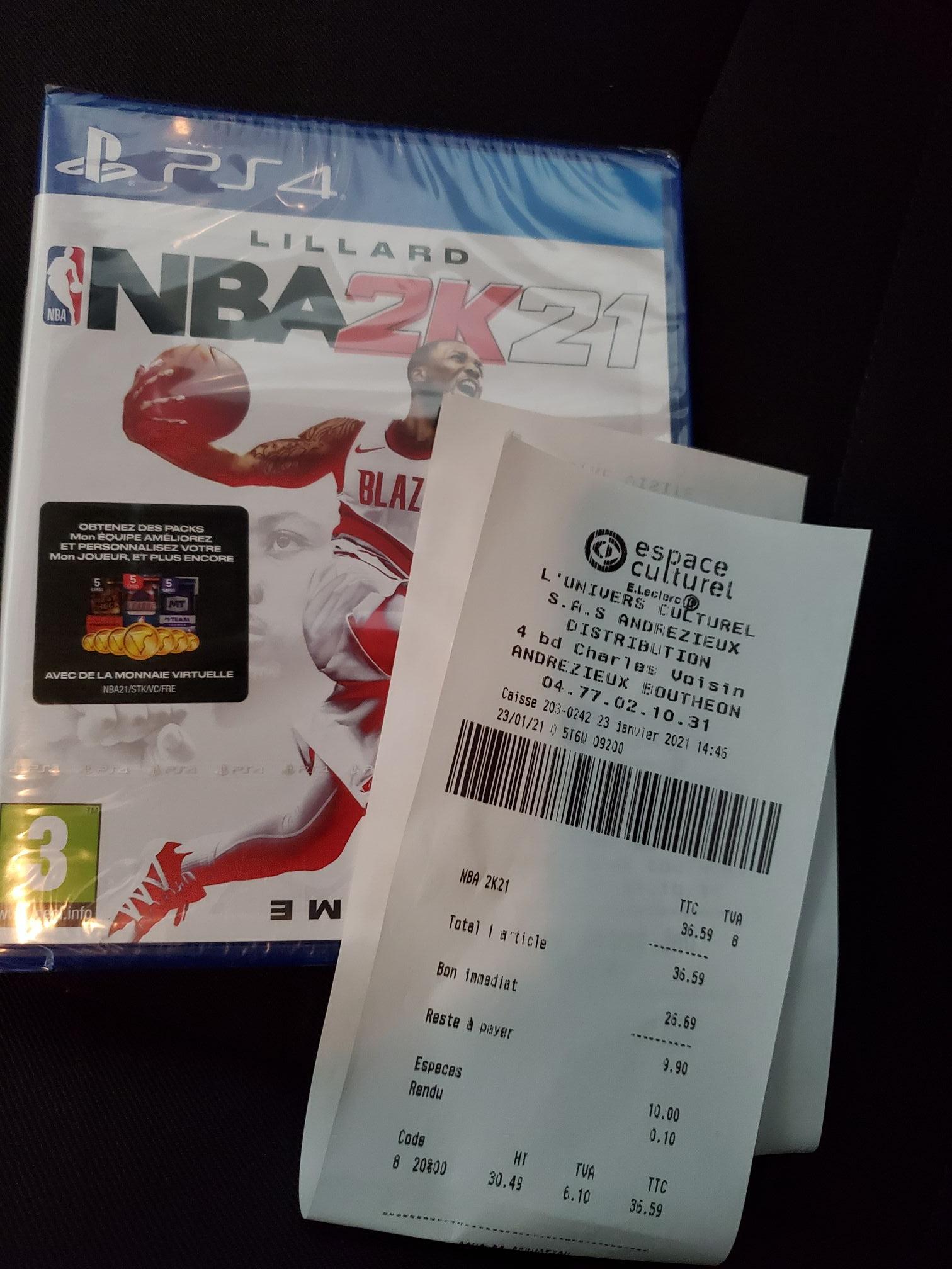NBA 2k21 sur PS4 (Andrezieux 42)