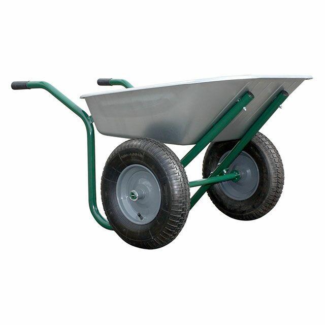 Brouette Haemmerlin galvanisée - 2 roues, 90 litres