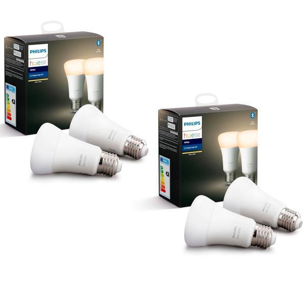 Pack de 4 ampoules Philips Hue White (E27, 9.5W)