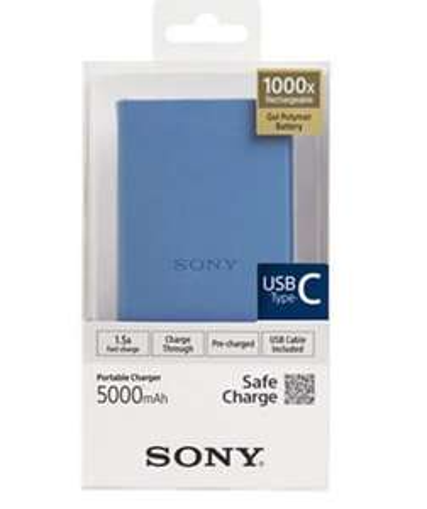 Batterie externe Sony CP-V5BBLC Combo - 5000 mAh, Bleu