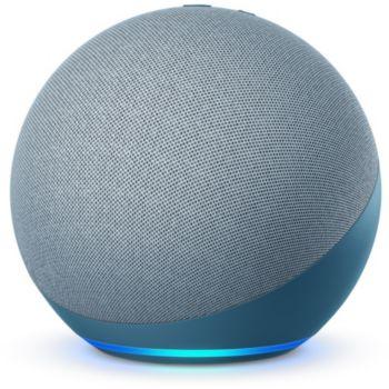 Enceinte connectée Amazon Echo (4e Génération) avec Assistant vocal + Ampoule connectée Philips Hue E27 White